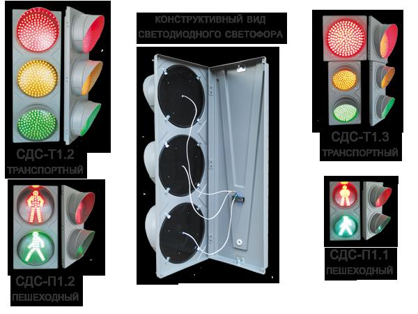 Светодиодные светофоры имеют